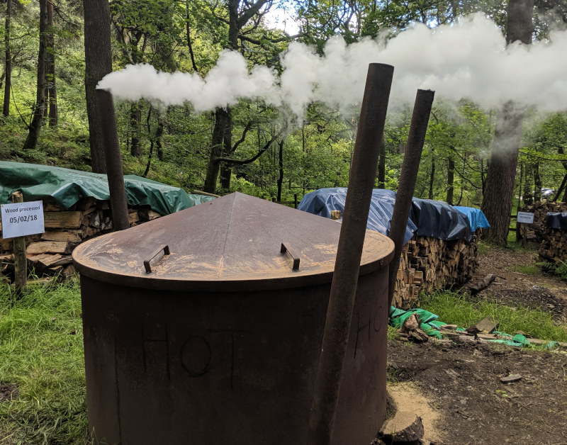 Making charcoal to profit from the land